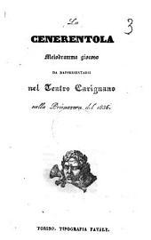 La Cenerentola melodramma giocoso [la musica è del signor maestro Gioachino Rossini!: Edizione 1
