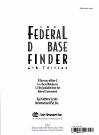 The Federal Database Finder PDF