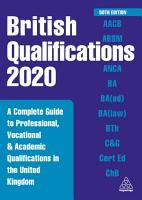 British Qualifications 2020 PDF