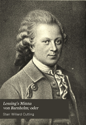 Lessing's Minna von Barnhelm; oder: Das soldatenglück