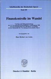 Finanzkontrolle im Wandel