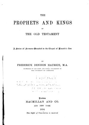 The Prophets and Kings of the Old Testament PDF