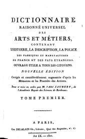 Vocabulaire technique ou dictionnaire raisonné de tous les termes usités dans les arts et métiers