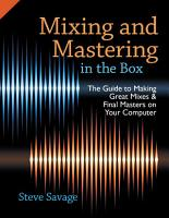 Mixing and Mastering in the Box PDF