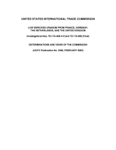Low Enriched Uranium from France, Germany, the Netherlands, and the United Kingdom, Invs. 701-TA-409-412 and 731-TA-909 (Final)