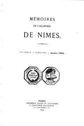 Mémoires de l'Académie de Nîmes: Volume16