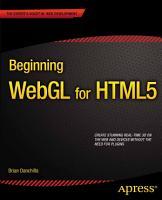 Beginning WebGL for HTML5 PDF