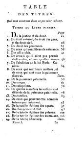 Les Institutes de l'Empereur Justinien: Volume1