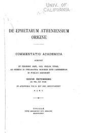 De ephetarum Atheniensium origine ...
