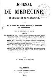 Journal de médecine, de chirurgie et de pharmacologie: Volume18;Volume1854