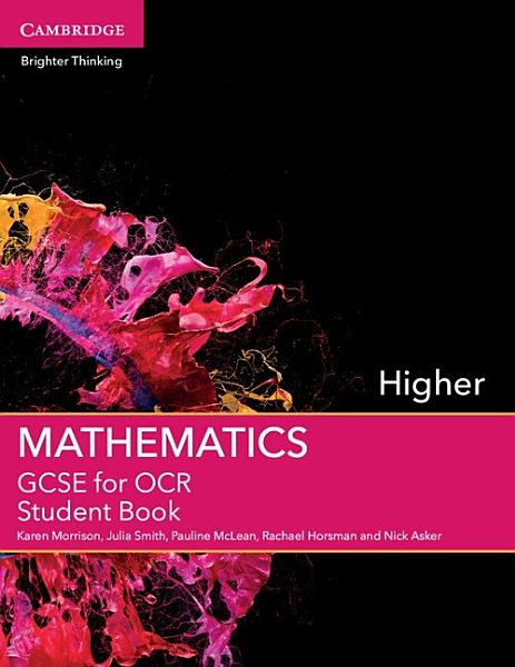GCSE Mathematics for OCR Higher Student Book