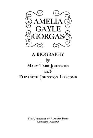 Amelia Gayle Gorgas