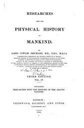 Researches Into the Physical History of Mankind: Volume 4