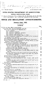Plant Regulatory Announcements: Volumes 72-93