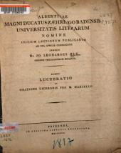 Lucubratio de oratione Ciceronis pro M. Marcello