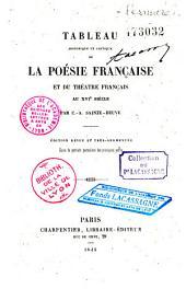 Tableau historique et critique de la poésie française et du théâtre français au XVIe siècle: Volume1