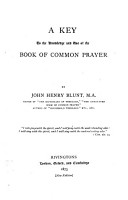 A Key to the Knowledge and Use of the Book of Common Prayer PDF