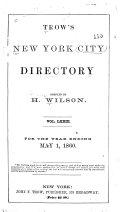 Trow s New York City Directory
