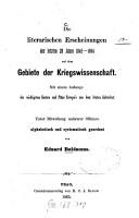 Die literarischen Erscheinungen der letzten 20 Jahre 1845   1864 auf dem Gebiete der Kriegswissenschaft PDF