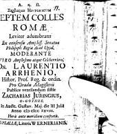 Schediasma hist., septem colles Romae leviter adumbrans