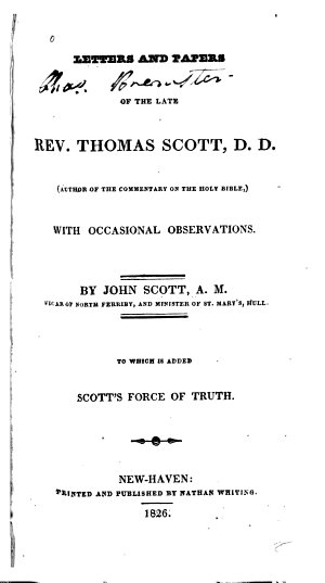 Letters and Papers of Thomas Scott