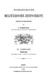 Österreichische militärische Zeitschrift: Band 1;Band 4