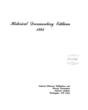 Historical Documentary Editions 1993