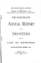 Annual Report of the Philadelphia Museum of Art: Issue 14