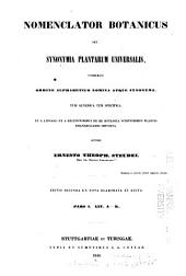 Nomenclator botanicus: Volume 1