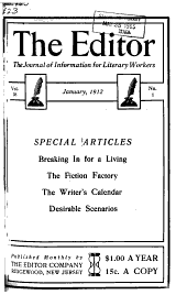 The Editor: The Journal of Information for Literary Workers, Volumes 35-36