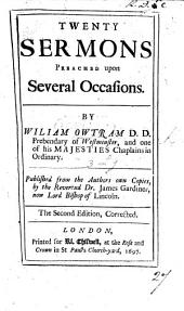 Twenty Sermons, preached upon several occasions. Published ... by ... J. Gardiner. Second edition, corrected. MS. note [by T. Birch].