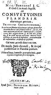 Ad consuetudines Flandriae aliarumque gentium tractatus controversiarum (etc.) - Ed. ultima