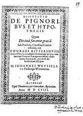 Disp. de pignoribus et hypothecis