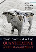 The Oxford Handbook of Quantitative Asset Management PDF