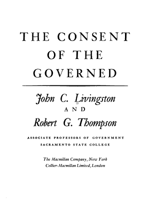 The Consent of the Governed PDF