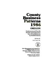 County business patterns, Oregon: Issues 39-42