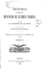 Memoria de la Secretaría de Estado y del Despacho de Guerra y Marina