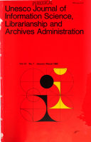 Unesco Journal of Information Science  Librarianship and Archives Administration PDF