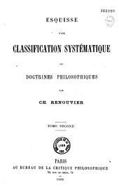 Esquisse d'une classification systématique des doctrines philosophiques: Volume2