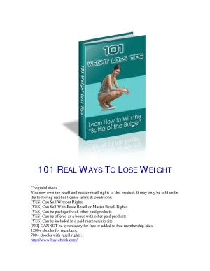 Lose 20 Pounds in 30 Days with 101 Weight Loss Tips   Plus Bonus PDF