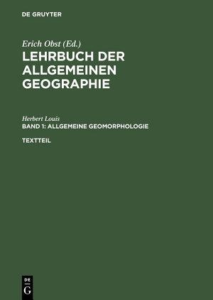 Allgemeine Geomorphologie PDF