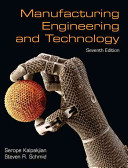 Manufacturing Engineering and Technology PDF