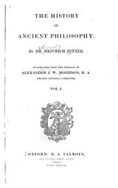 The History of Ancient Philosophy: Volume 1