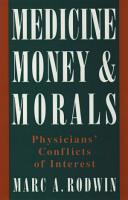 Medicine  Money  and Morals PDF