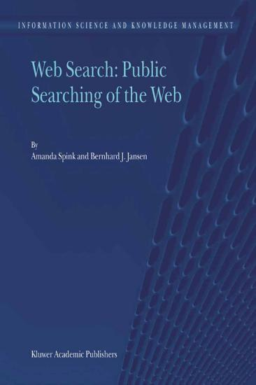 Web Search  Public Searching of the Web PDF
