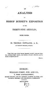 An analysis of bishop Burnet's Exposition of the Thirty-nine articles