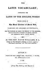The Latin Vocabulary