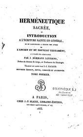 Herméneutique sacrée, ou Introduction à l'écriture sainte