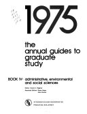 The Annual Guides To Graduate Study
