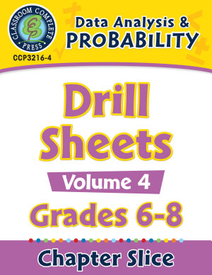 Data Analysis   Probability   Drill Sheets Vol  4 Gr  6 8